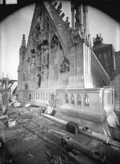 Cathédrale Notre-Dame - Pignon du bras nord du transept, après restauration