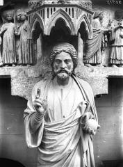 Cathédrale Notre-Dame - Portail nors, buste du Beau Dieu