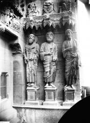 Cathédrale Notre-Dame - Portail nord, porte de la Résurrection, ébrasement gauche