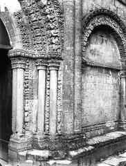 Eglise Saint-Herie - Portail ouest, piédroit droit
