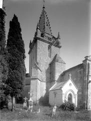 Eglise Saint-Dizant - Clocher, côté nord-ouest