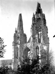 Ancienne abbaye de Saint-Jean-des-Vignes - Eglise, façade ouest, revers