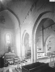 Eglise Saint-Junien de Vaussais - Choeur, vue diagonale