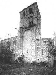 Eglise Saint-Barthélémy - Abside et clocher, au sud