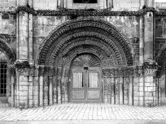 Eglise Sainte-Marie-aux-Dames - Portail ouest, porte centrale