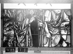 Ensemble archiépiscopal - Vitrail, Chapelle Saint-Joseph, lancette gauche, Légende de saint Romain, troisième panneau, en haut