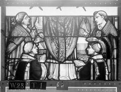 Ensemble archiépiscopal - Vitrail, Chapelle Saint-Joseph, lancette gauche, Légende de saint Romain, sixième panneau, en haut