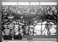 Ensemble archiépiscopal - Vitrail, Chapelle Saint-Joseph, lancette gauche, Légende de saint Romain, septième panneau, en haut