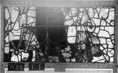 Ensemble archiépiscopal - Vitrail, Chapelle Saint-Joseph, lancette gauche, Légende de saint Romain, dixième panneau, en haut