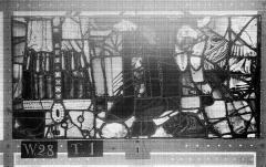 Ensemble archiépiscopal - Vitrail, Chapelle Saint-Joseph, lancette gauche, Légende de saint Romain, onzième panneau, en haut