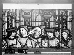 Ensemble archiépiscopal - Vitrail, Chapelle Saint-Joseph, lancette médiane, Légende de saint Romain, deuxième panneau, en haut