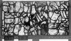 Ensemble archiépiscopal - Vitrail, Chapelle Saint-Joseph, lancette médiane, Légende de saint Romain, dixième panneau, en haut