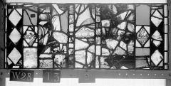 Ensemble archiépiscopal - Vitrail, Chapelle Saint-Joseph, lancette de droite, Légende de saint Romain, neuvième panneau, en haut