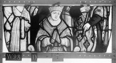Ensemble archiépiscopal - Vitrail, Chapelle Saint-Joseph, tympan gauche, Légende de saint Romain, deuxième panneau, en haut