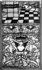 Ensemble archiépiscopal - Vitrail, Chapelle Saint-Joseph, Vie de saint Romain, lancette médiane, troisième panneau, en haut