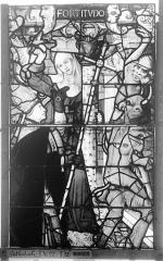 Ensemble archiépiscopal - Vitrail, Chapelle Saint-Joseph, Vie de saint Romain, lancette médiane, quatrième panneau, en haut