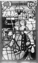 Ensemble archiépiscopal - Vitrail, Chapelle Saint-Joseph, Vie de saint Romain, lancette de droite, deuxième panneau, en haut