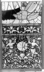 Ensemble archiépiscopal - Vitrail, Chapelle Saint-Joseph, Vie de saint Romain, lancette de droite, troisième panneau, en haut