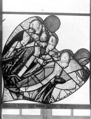 Ensemble archiépiscopal - Vitrail, Chapelle Saint-Joseph, Vie de saint Romain, tympan gauche