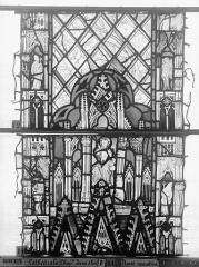 Ensemble archiépiscopal - Vitrail, Chapelle Jeanne d'Arc, Baptême de saint jean, baie 38, deuxième panneau, en haut