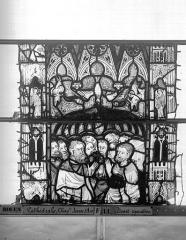 Ensemble archiépiscopal - Vitrail, Chapelle Jeanne d'Arc, Baptême de saint jean, baie 38, troisième panneau, en haut