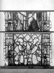 Ensemble archiépiscopal - Vitrail, Chapelle Jeanne d'Arc, Baptême de saint jean, baie 38, quatrième panneau, en haut