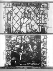 Ensemble archiépiscopal - Vitrail, Chapelle Jeanne d'Arc, Baptême de saint jean, baie 38, cinquième panneau, en haut
