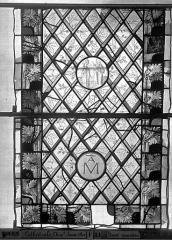 Ensemble archiépiscopal - Vitrail, Chapelle Jeanne d'Arc, Baptême de saint jean, baie 38, septième panneau, en haut