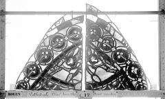 Ensemble archiépiscopal - Vitrail, Chapelle Jeanne d'Arc, la Vierge et l'Enfant, saint jean, baie 36, premier panneau, en haut