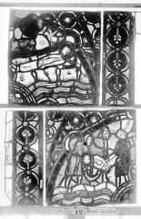 Ensemble archiépiscopal - Vitrail, Chapelle Jeanne d'Arc, la Vierge et l'Enfant, saint jean, baie 36, troisième panneau, en haut