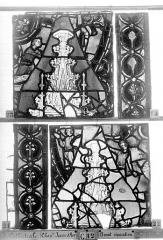 Ensemble archiépiscopal - Vitrail, Chapelle Jeanne d'Arc, la Vierge et l'Enfant, saint jean, baie 36, cinquième panneau, en haut