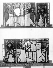 Ensemble archiépiscopal - Vitrail, Chapelle Jeanne d'Arc, la Vierge et l'Enfant, saint jean, baie 36, sixième panneau, en haut