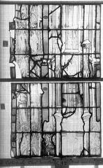 Ensemble archiépiscopal - Vitrail, Chapelle Jeanne d'Arc, la Vierge et l'Enfant, saint jean, baie 36, septième panneau, en haut