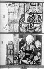 Ensemble archiépiscopal - Vitrail, Chapelle Jeanne d'Arc, la Vierge et l'Enfant, saint jean, baie 36, neuvième panneau, en haut