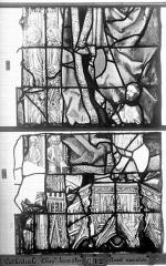 Ensemble archiépiscopal - Vitrail, Chapelle Jeanne d'Arc, la Vierge et l'Enfant, saint jean, baie 36, onzième panneau, en haut