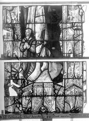Ensemble archiépiscopal - Vitrail, Chapelle Jeanne d'Arc, la Vierge et l'Enfant, saint jean, baie 36, douzième panneau, en haut