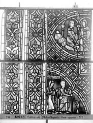 Ensemble archiépiscopal - Vitrail, déambulatoire au nord, saint Julien l'Hospitalier, quatrième panneau, en haut