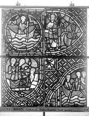Ensemble archiépiscopal - Vitrail, déambulatoire au nord, saint Julien l'Hospitalier, cinquième panneau, en haut