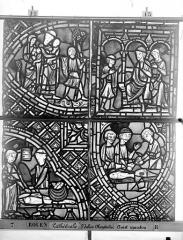 Ensemble archiépiscopal - Vitrail, déambulatoire au nord, saint Julien l'Hospitalier, dixième panneau, en haut