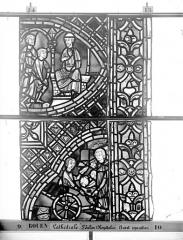 Ensemble archiépiscopal - Vitrail, déambulatoire au nord, saint Julien l'Hospitalier, onzième panneau, en haut