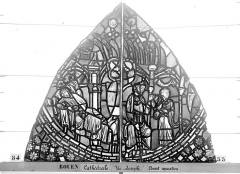 Ensemble archiépiscopal - Vitrail, baie 59, Vie de Joseph, premier panneau, en haut