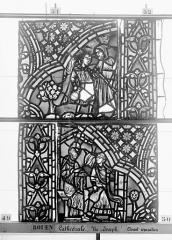 Ensemble archiépiscopal - Vitrail, baie 59, Vie de Joseph, deuxième panneau, en haut