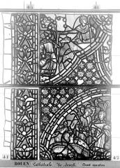 Ensemble archiépiscopal - Vitrail, baie 59, Vie de Joseph, troisième panneau, en haut