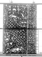 Ensemble archiépiscopal - Vitrail, baie 59, Vie de Joseph, quatrième panneau, en haut