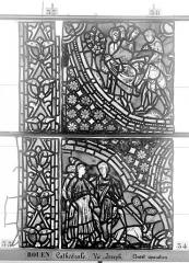 Ensemble archiépiscopal - Vitrail, baie 59, Vie de Joseph, cinquième panneau, en haut