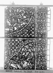 Ensemble archiépiscopal - Vitrail, baie 59, Vie de Joseph, sixième panneau, en haut