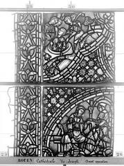 Ensemble archiépiscopal - Vitrail, baie 59, Vie de Joseph, septième panneau, en haut