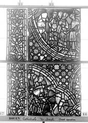 Ensemble archiépiscopal - Vitrail, baie 59, Vie de Joseph, neuvième panneau, en haut