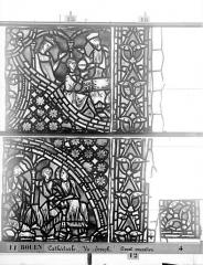 Ensemble archiépiscopal - Vitrail, baie 59, Vie de Joseph, douzième panneau, en haut