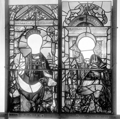 Ancienne église Saint-Eloi - Vitrail, fenêtre 1, panneaux